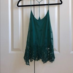Pins and needles lace cami